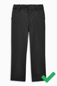 example of appropriate black trousers for boys